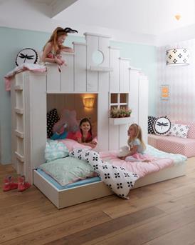 Interieur inspiratie 2 kinderen op 1 kamer met het vogelhuis van saartje prum interieur inspiratie - Kleur van kamer voor meisje ...