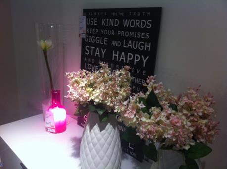 roze lamp