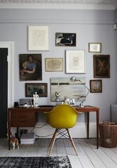eames geel stoel