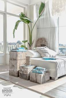 slaapkamer turguoise