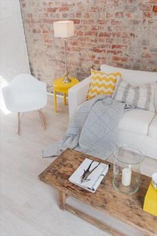 woonkamer wit geel