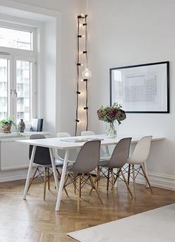 zwart wit eettkamer