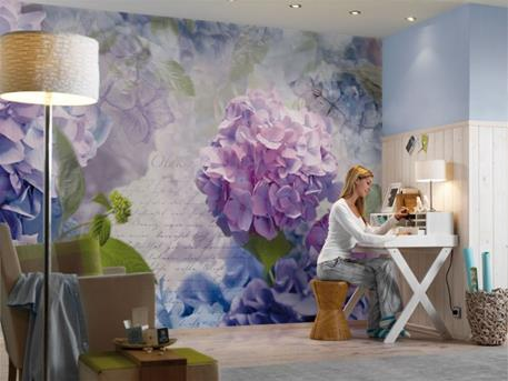 Fotobehang slaapkamer bloemen