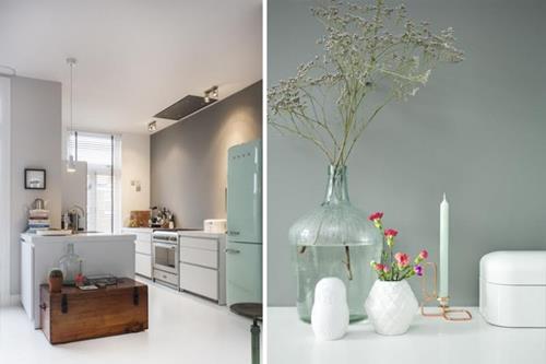 witte keuken met accentmuur  consenza for ., Meubels Ideeën
