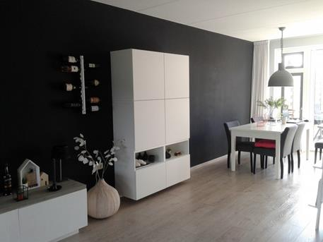Awesome Donkere Muur Woonkamer Contemporary - House Design Ideas ...