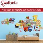 Win een complete muursticker set