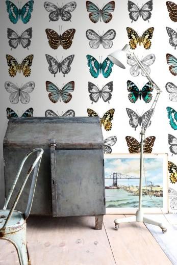 Brooklyn bridge vlinder behang