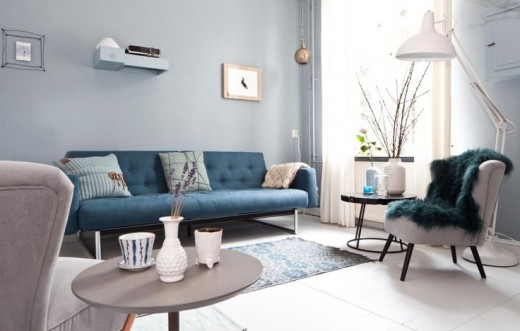 Interieur inspiratie blauwe muur huiskamer interieur for Huiskamer opnieuw inrichten