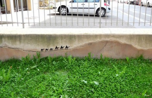 streetart muur