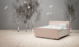 De slaapkamer in pastelkleuren