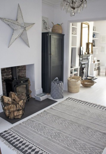 Zwart Wit Vloerkleed Interieur Inspiratie