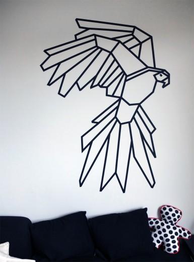 vogel op de muur