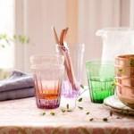 Vintage gekleurd glaswerk is weer stoer!