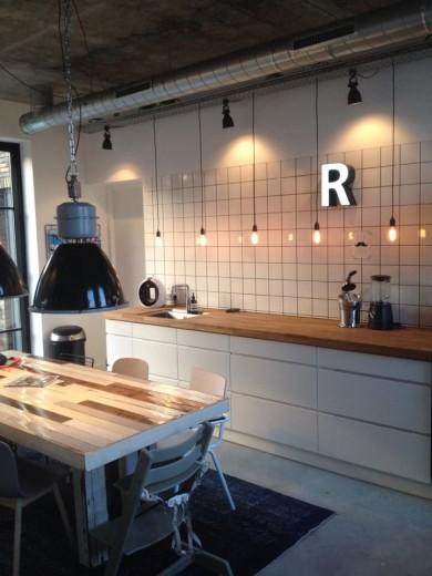 Interieur inspiratie letterverlichting interieur inspiratie for Industriele lamp keuken