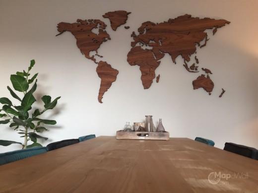 Woonkamer Met Wereldkaart : Wanddecoratie woonkamer zelf maken