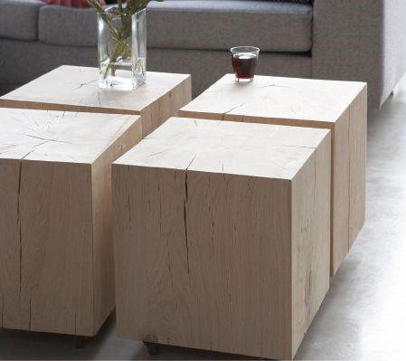 houten tafeltjes