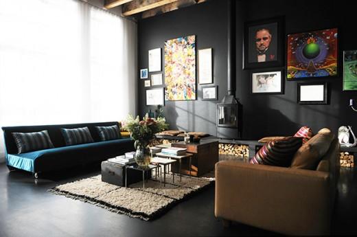 Interieur inspiratie binnenkijken bij vivien de vries - Zwarte muur in de woonkamer ...