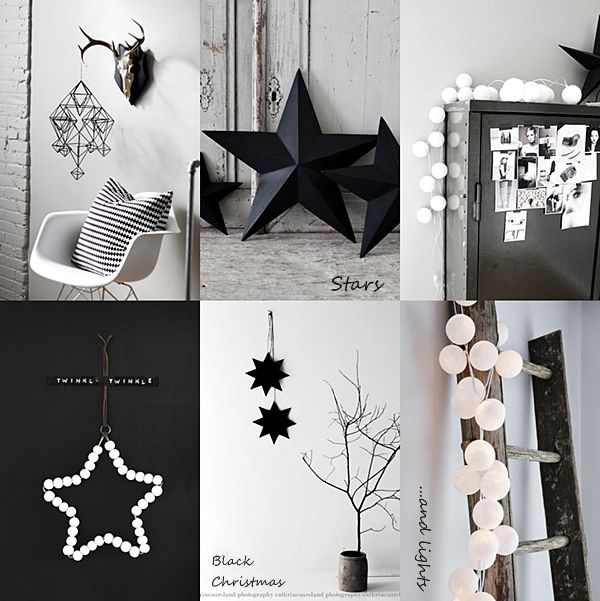 Interieur inspiratie zwart wit kerst - Deco salon zwart wit ...