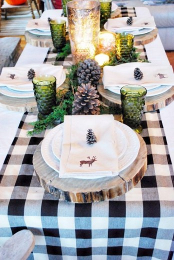 kersttafel hout