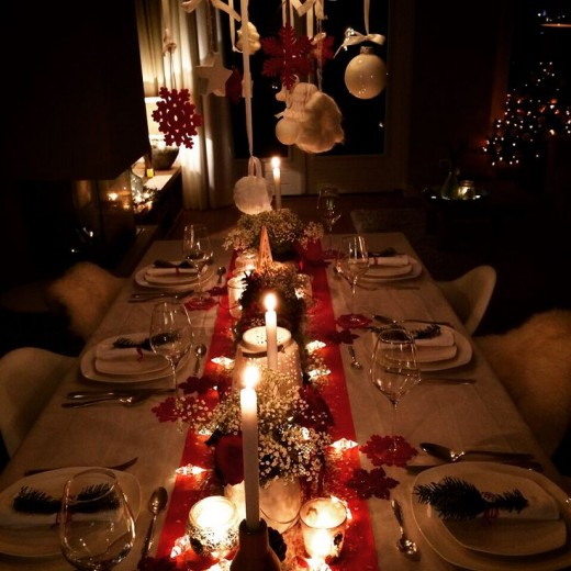 kersttafel rood