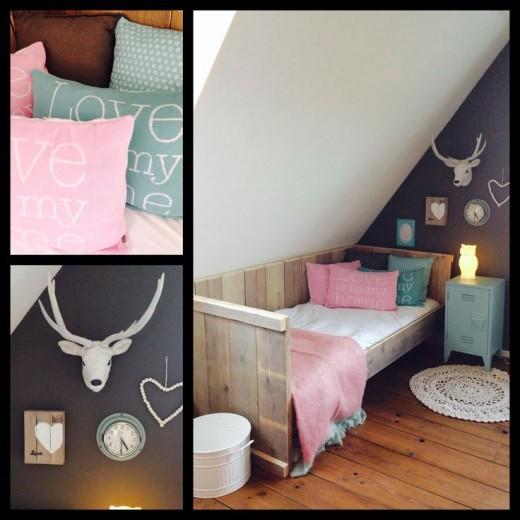 Interieur inspiratie pastel meisjeskamer - Roze meid slaapkamer ...