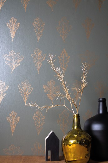 behang goud blad