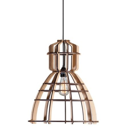 landelijke houten lamp