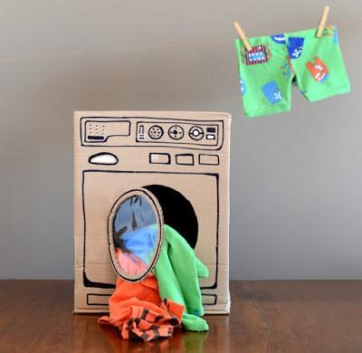 kartonnen wasmachine