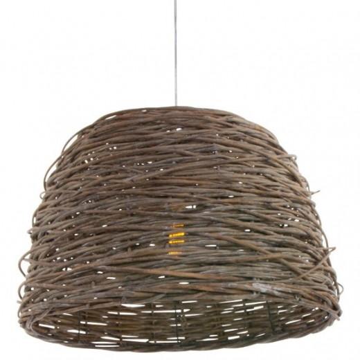 landelijke rieten lamp