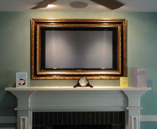 tv kunstwerk goud