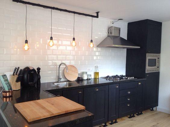 Keuken pinterest keukenarchitectuur - Eigentijdse houten keuken ...
