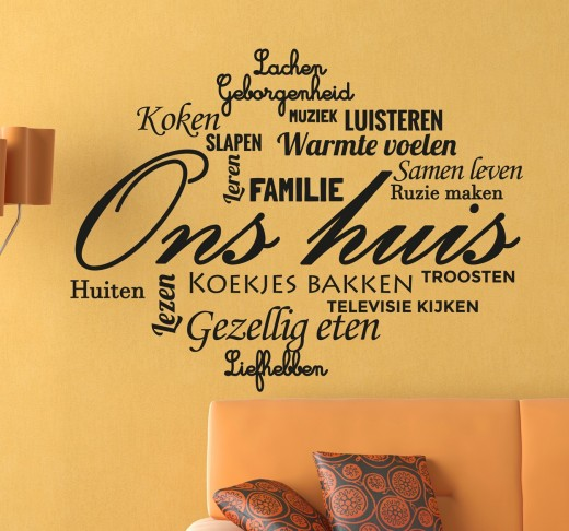 Interieur Inspiratie Muurstickers voor in de woonkamer - Interieur ...