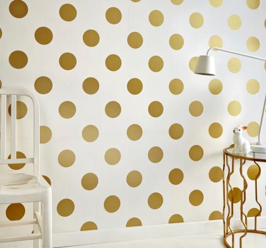 behang gouden dots