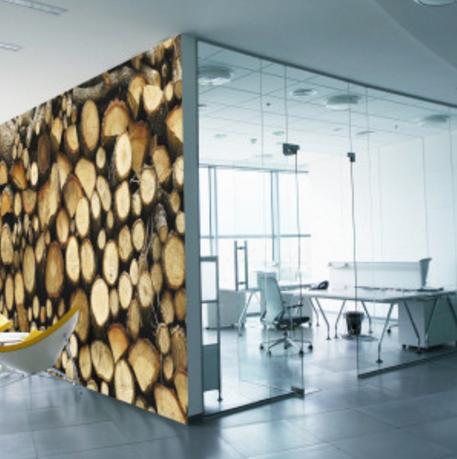 behang hout