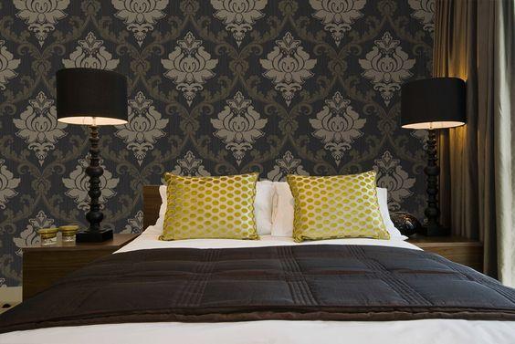 Barok Slaapkamer Meubels : Interieur inspiratie barok behang in de slaapkamer