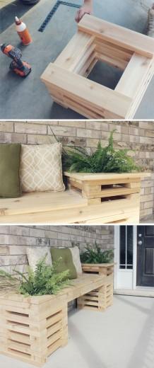 Zelf een houten bankje maken