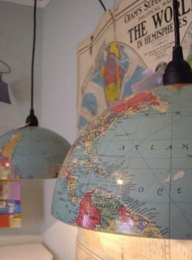 lamp wereldbol