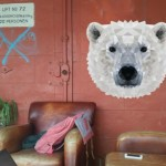 Muurstickers met 3d-effect bij Studio Bluebird: Diamond Animals