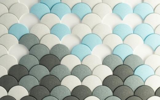 schelpen panel blauw