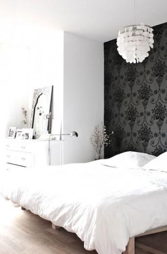 interieur inspiratie barok behang in de slaapkamer, Deco ideeën