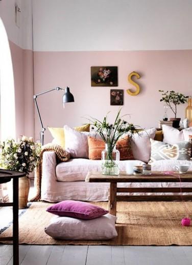 lambrisering roze