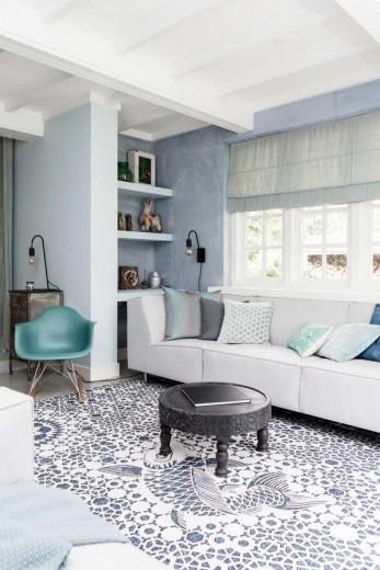 interieur inspiratie blauw interieur, Deco ideeën