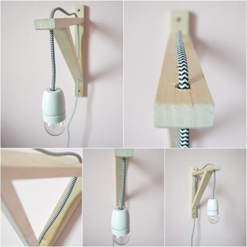 diy houten lamp