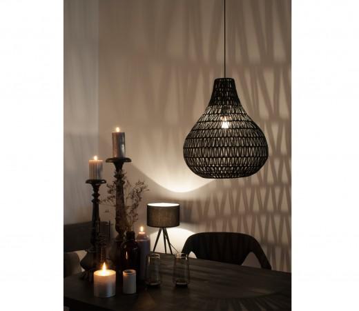 interieur inspiratie grote manden hanglampen