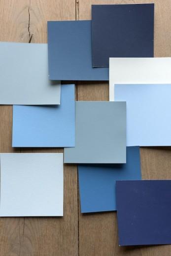 blauw kleuren