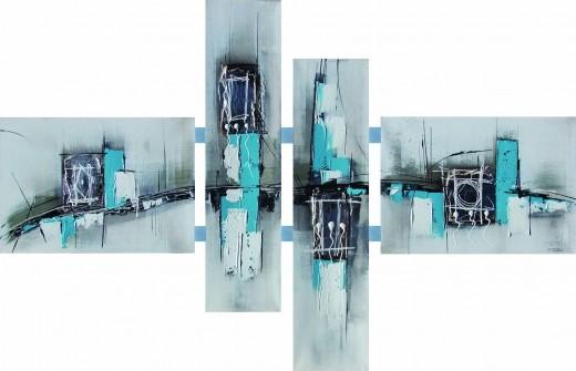 blauw-schilderij