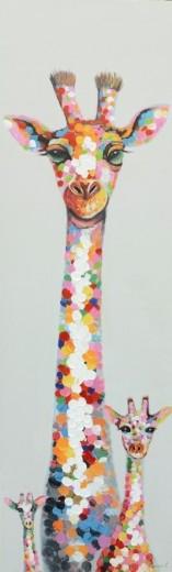 giraffe schilderij