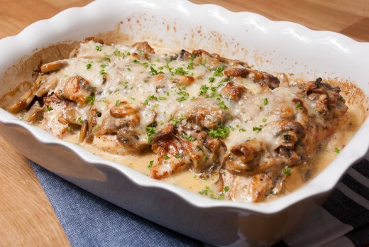 kip champignon schotel