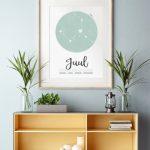 PRINTCANDY presenteert nieuwe poster met persoonlijk sterrenbeeld
