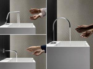 Dornbracht Touchfree: comfortabele waterregeling zonder zichtbare sensor voor maximale variatie in vormgeving